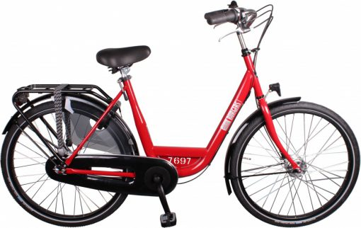 ID Personal 26 Inch 50 cm Dames 3V Rollerbrakes Rood